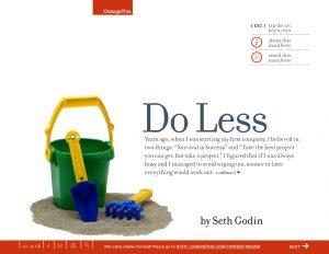 thumbnail of Do_Less_Seth_Godin